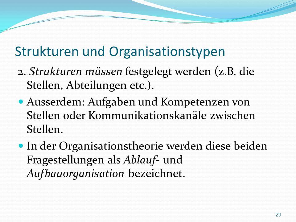 Strukturen und Organisationstypen