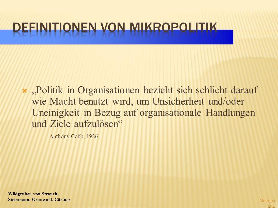 Definitionen von Mikropolitik