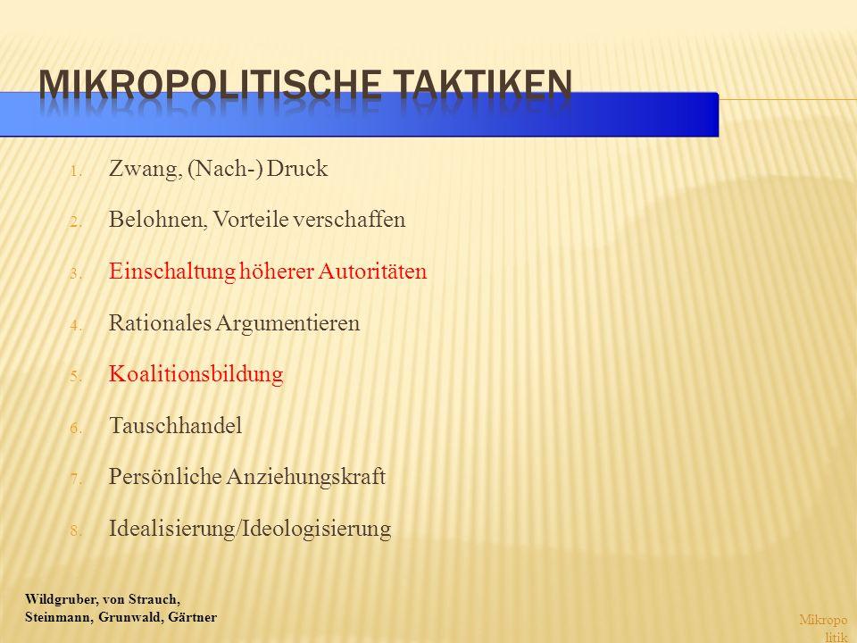 Mikropolitische Taktiken