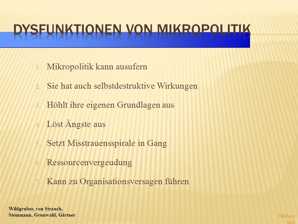 Dysfunktionen von Mikropolitik