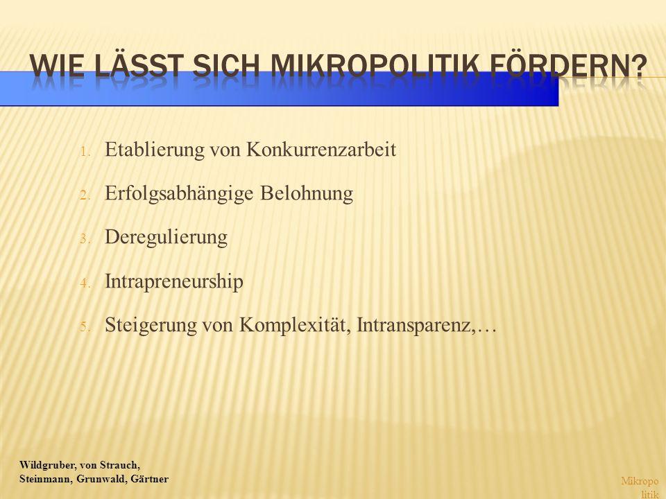 Wie lässt sich Mikropolitik fördern