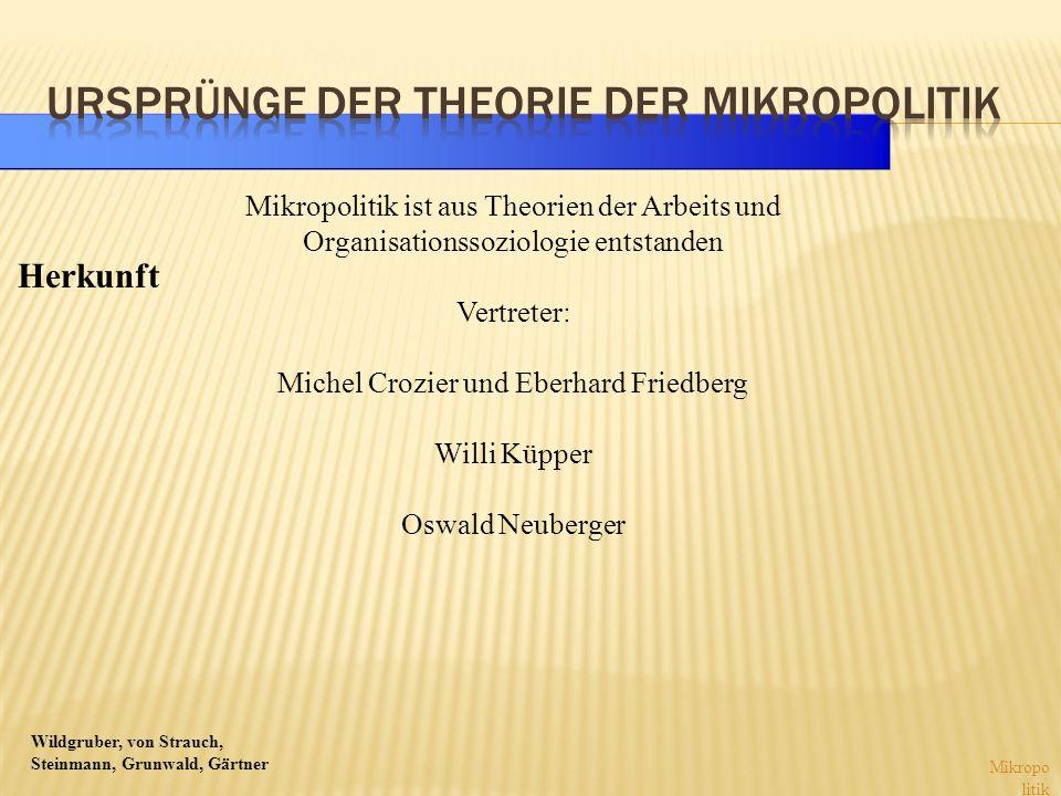 Ursprünge der Theorie der Mikropolitik