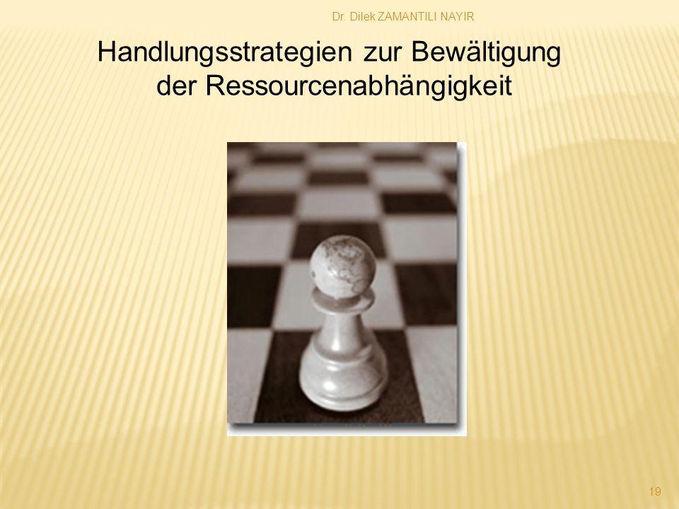 Handlungsstrategien zur Bewältigung der Ressourcenabhängigkeit