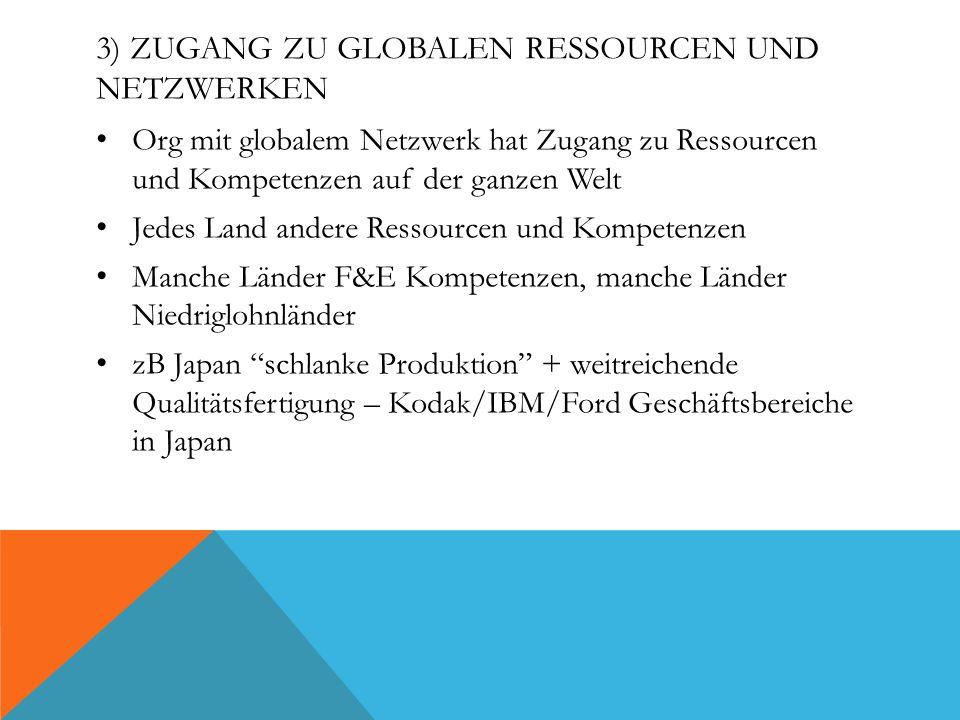 3) Zugang zu globalen Ressourcen und Netzwerken