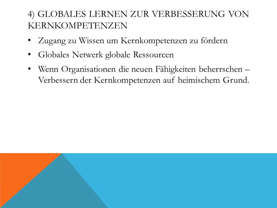 4) Globales Lernen zur Verbesserung von Kernkompetenzen