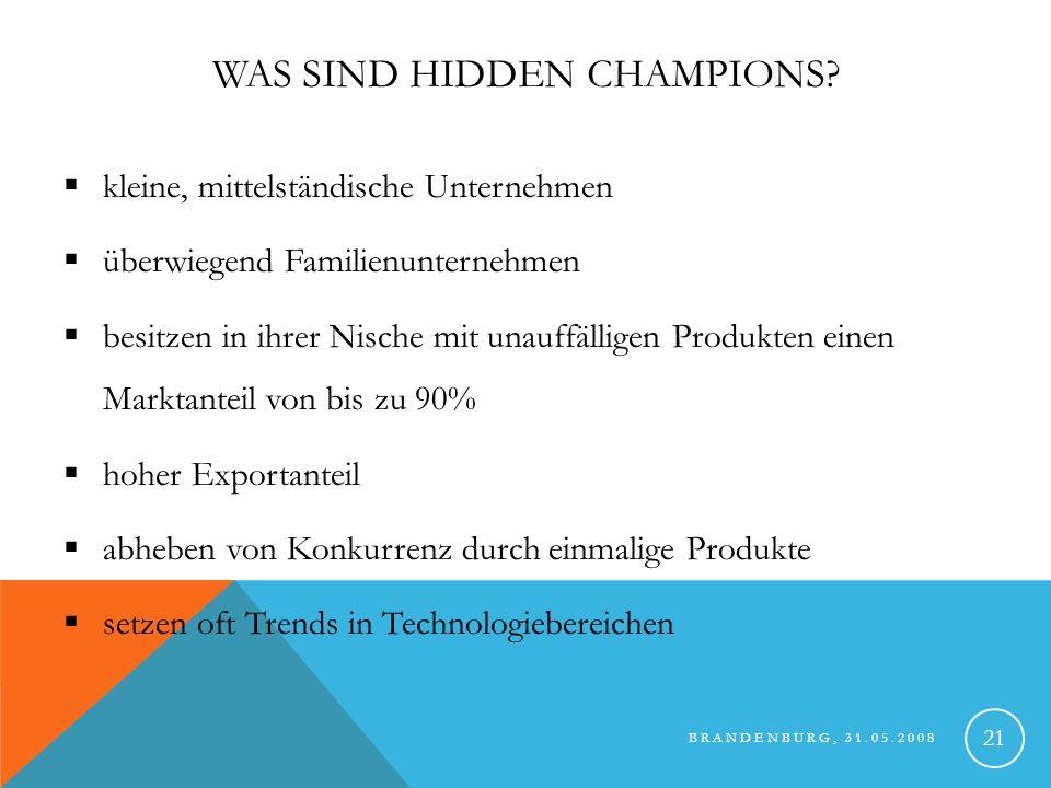 Was sind Hidden Champions