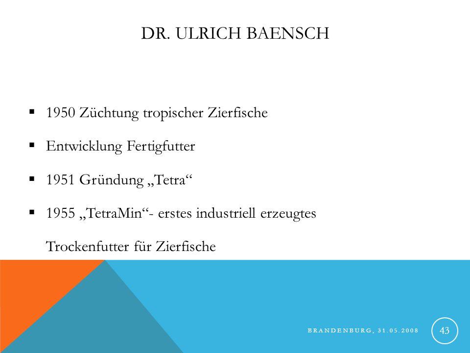 Dr. Ulrich Baensch 1950 Züchtung tropischer Zierfische