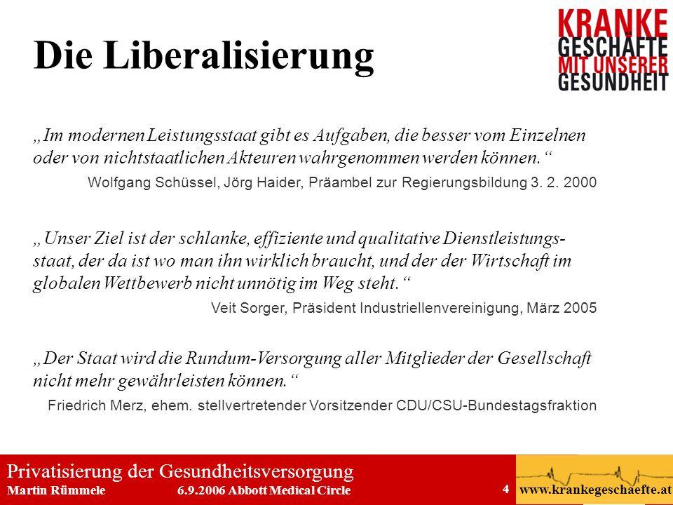 Die Liberalisierung