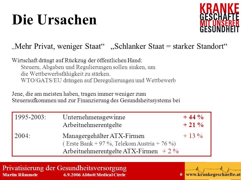 Die Ursachen 1995-2003: Unternehmensgewinne + 44 %