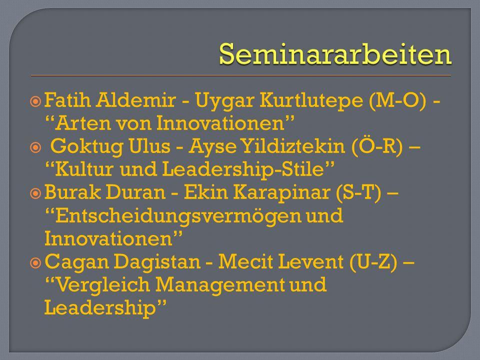 Seminararbeiten Fatih Aldemir - Uygar Kurtlutepe (M-O) - Arten von Innovationen