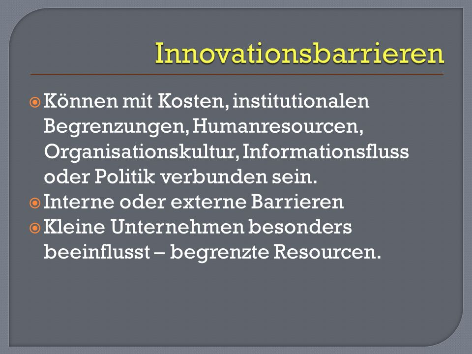 Innovationsbarrieren