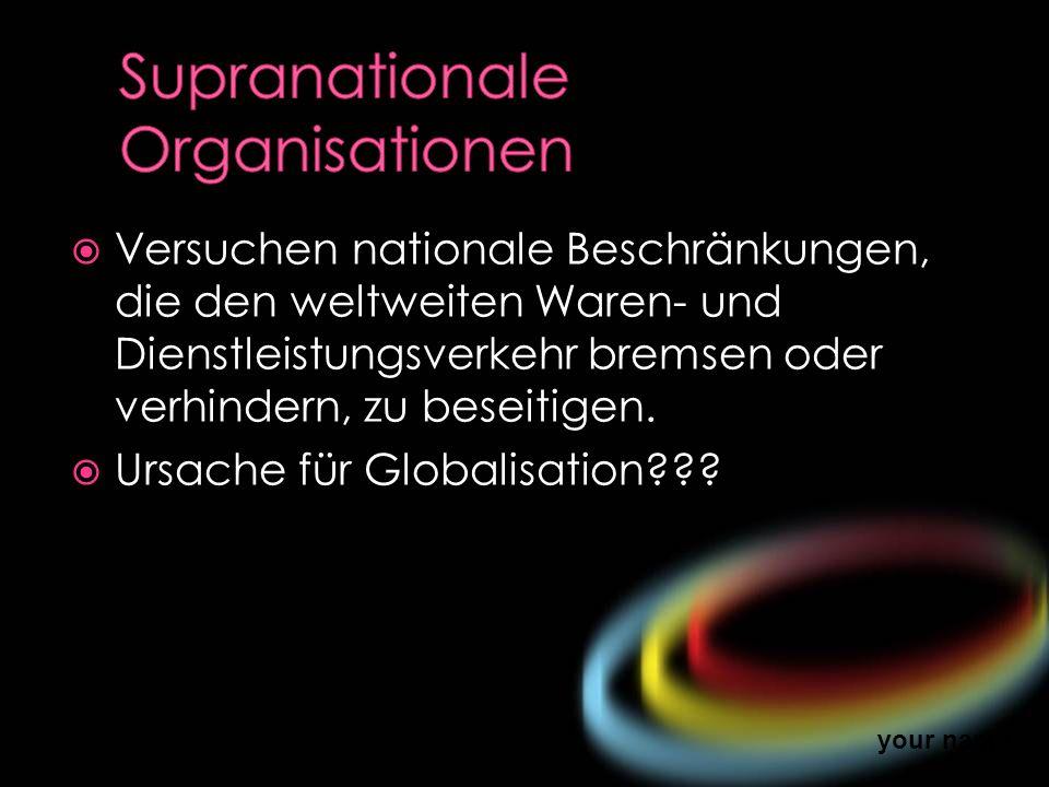 Supranationale Organisationen