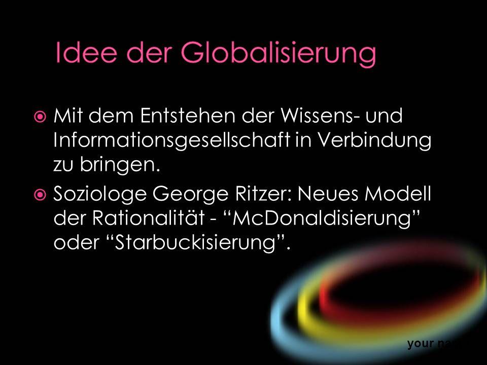 Idee der Globalisierung