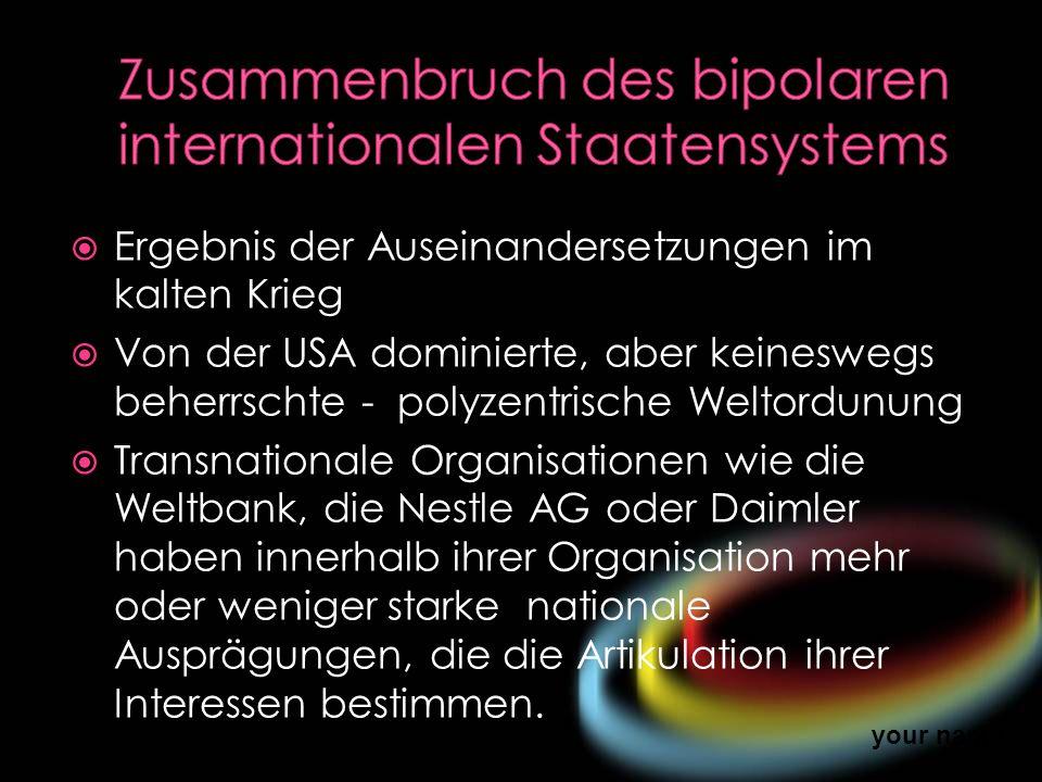 Zusammenbruch des bipolaren internationalen Staatensystems
