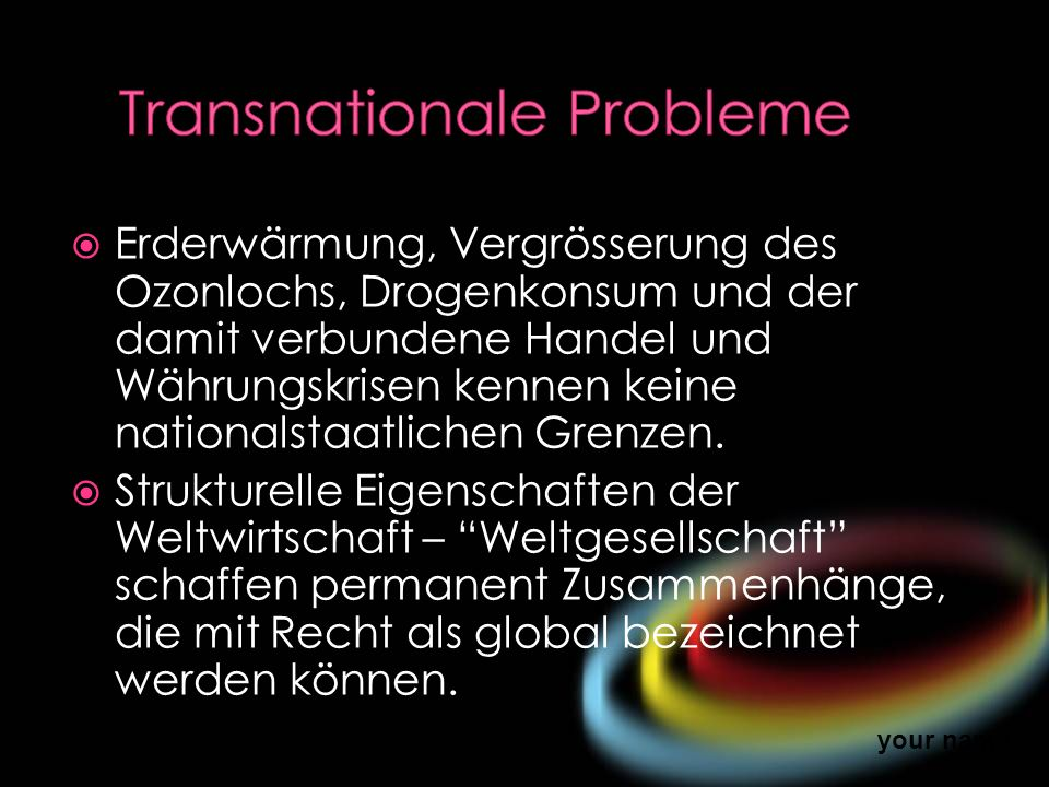 Transnationale Probleme