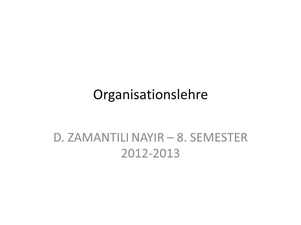 D. ZAMANTILI NAYIR – 8. SEMESTER 2012-2013