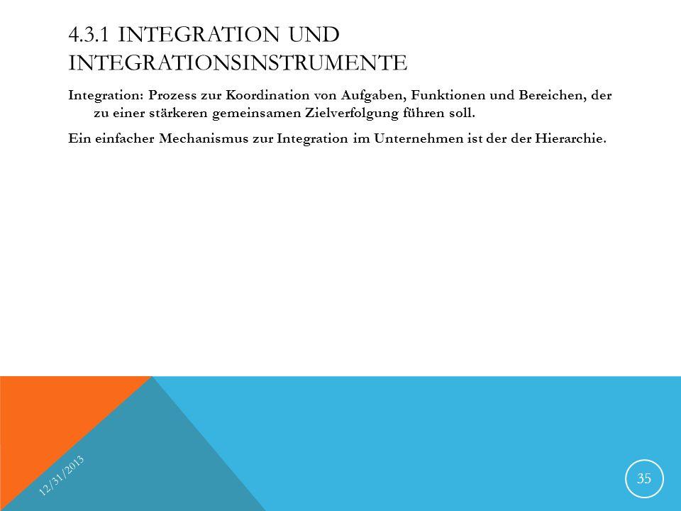 4.3.1 Integration und Integrationsinstrumente