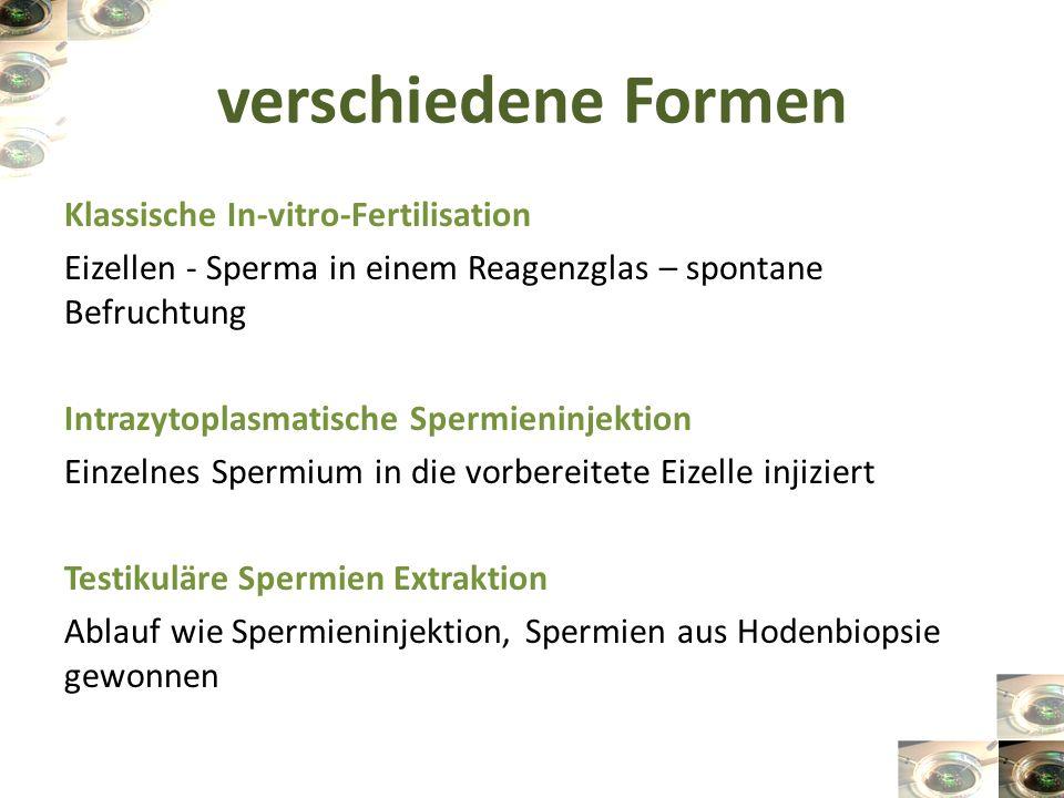 verschiedene Formen Klassische In-vitro-Fertilisation