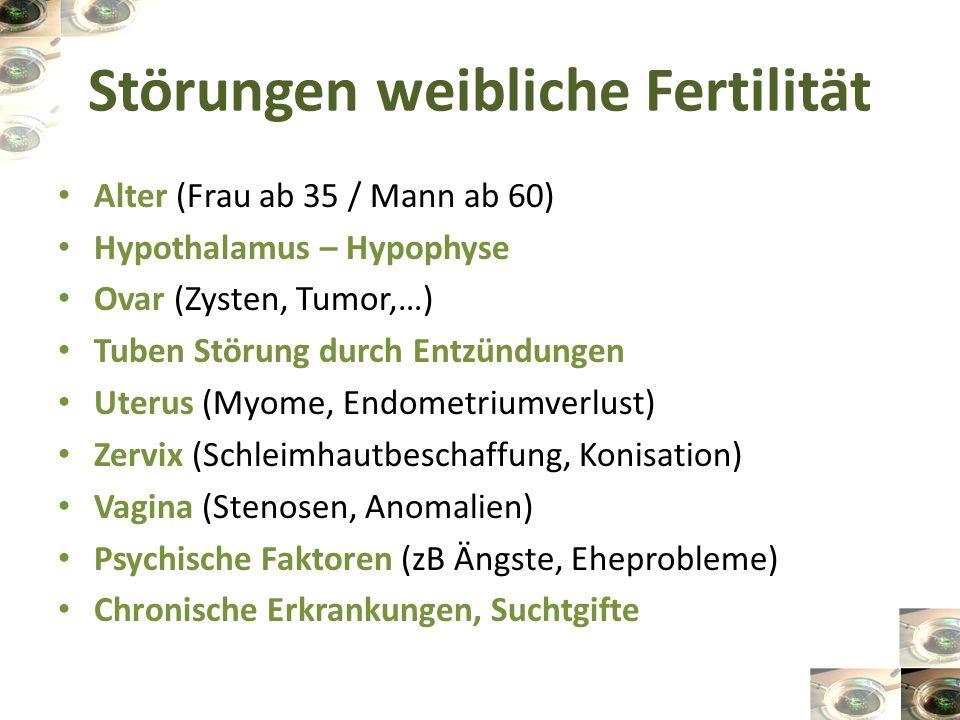 Störungen weibliche Fertilität