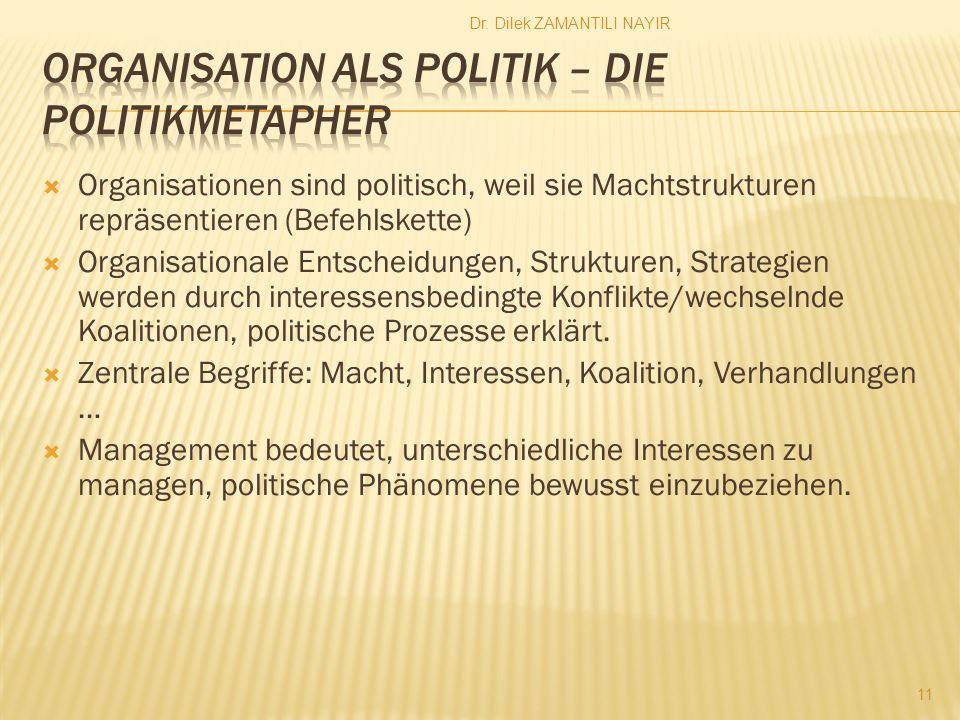 Organisation als Politik – Die Politikmetapher