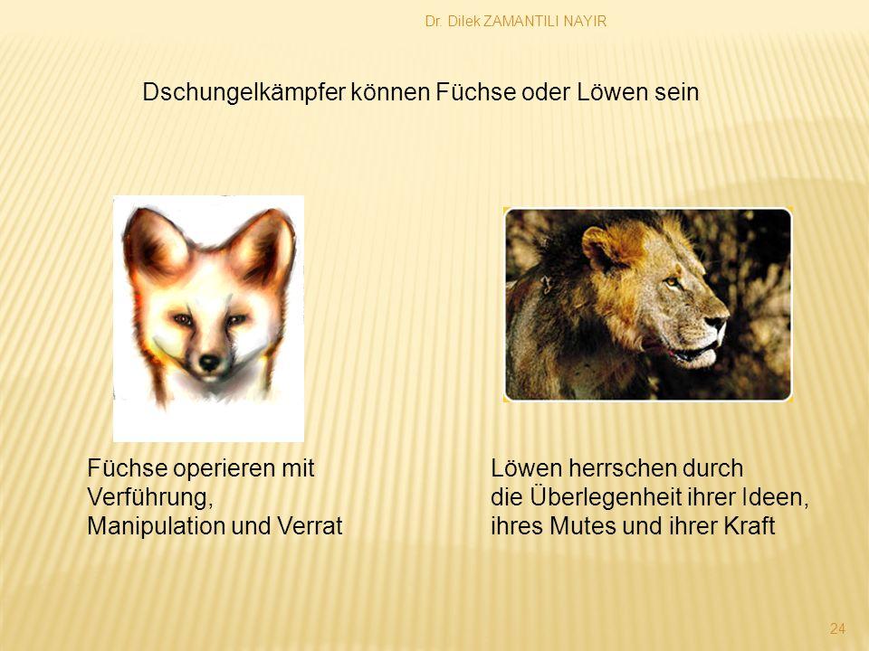 Dschungelkämpfer können Füchse oder Löwen sein