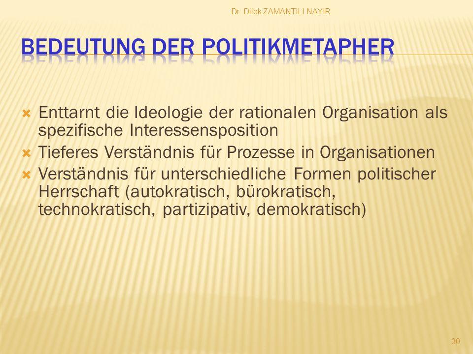 Bedeutung der Politikmetapher