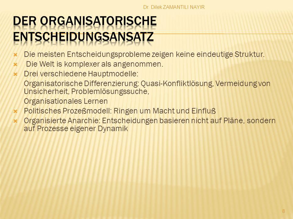 Der Organisatorische Entscheidungsansatz