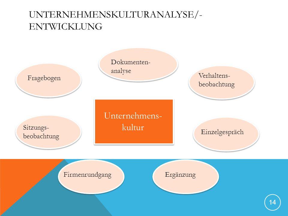 Unternehmenskulturanalyse/-entwicklung