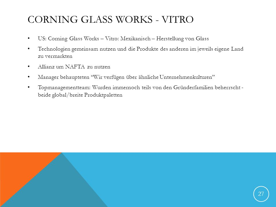 Corning Glass Works - Vitro