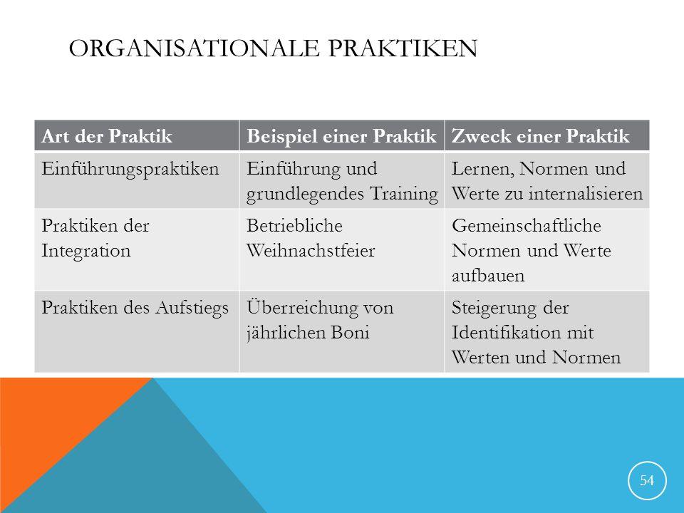 Organisationale Praktiken