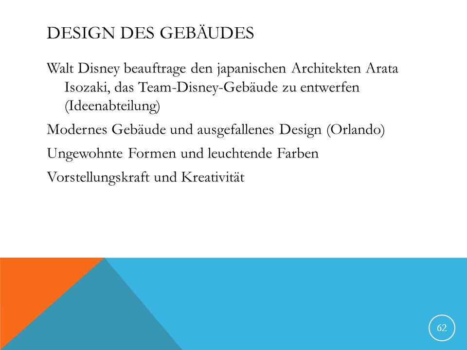 Design des Gebäudes