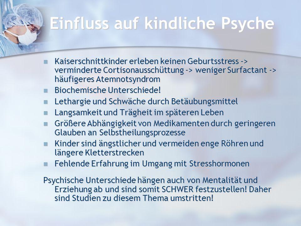 Einfluss auf kindliche Psyche