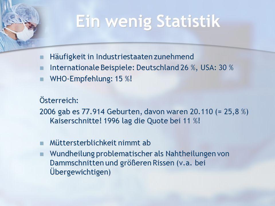 Ein wenig Statistik Häufigkeit in Industriestaaten zunehmend