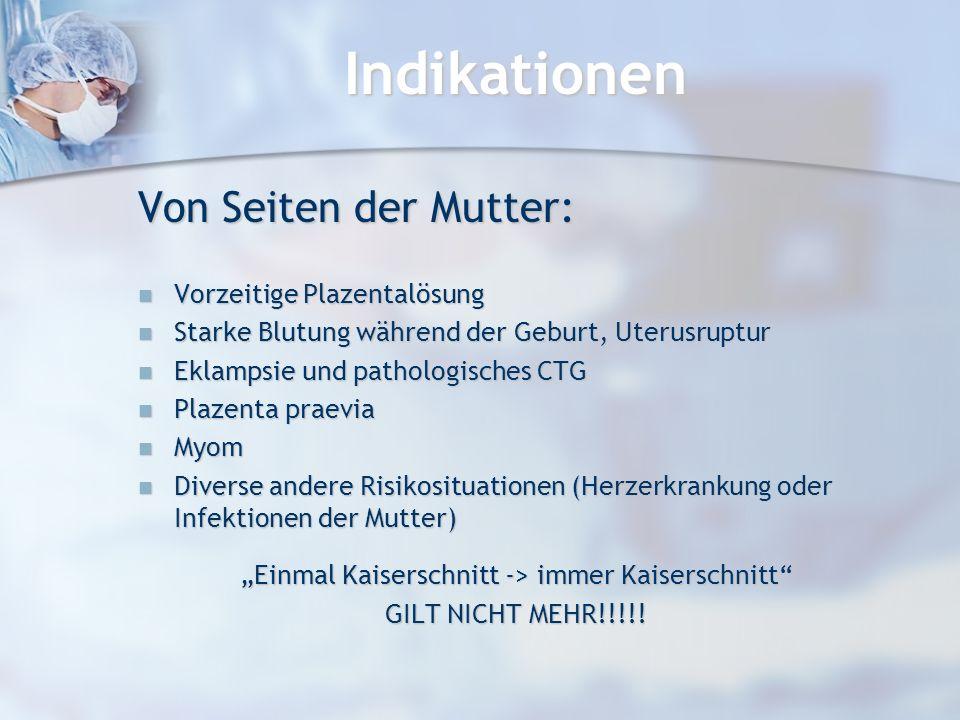 """""""Einmal Kaiserschnitt -> immer Kaiserschnitt"""