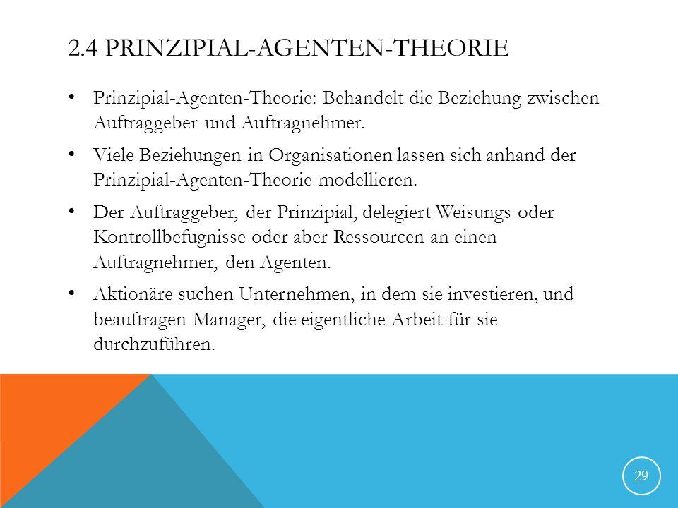 2.4 Prinzipial-Agenten-Theorie