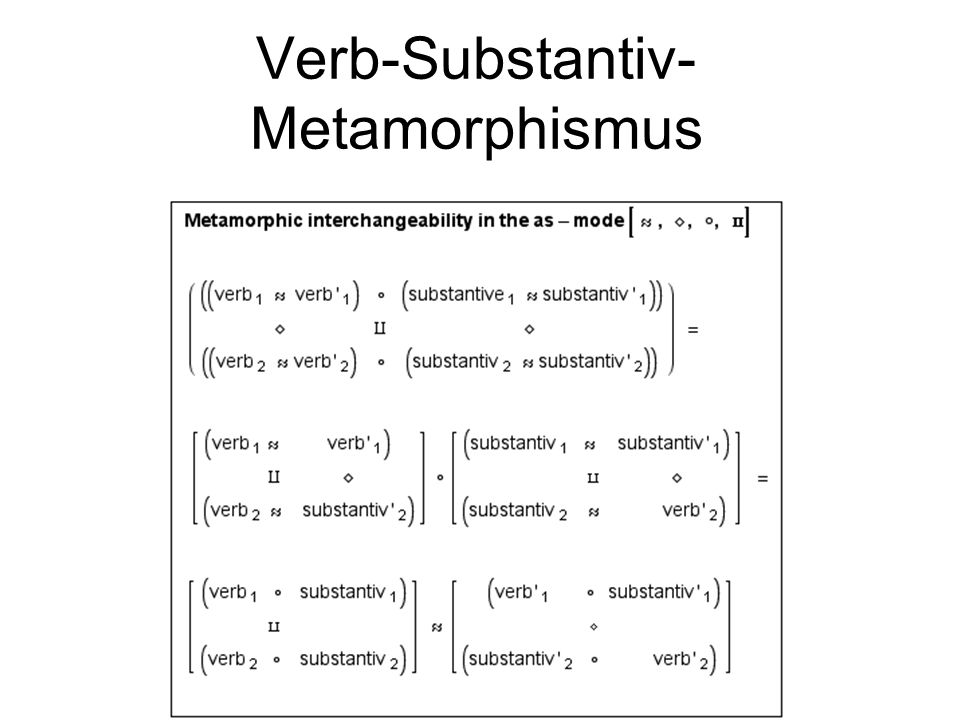 Verb-Substantiv-Metamorphismus