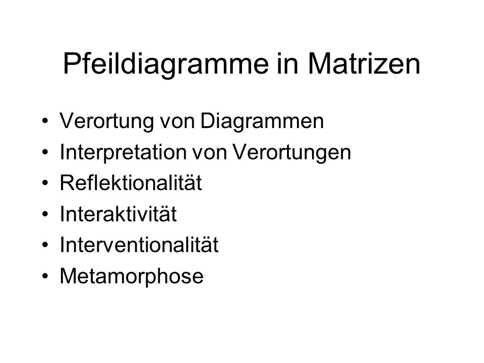 Pfeildiagramme in Matrizen