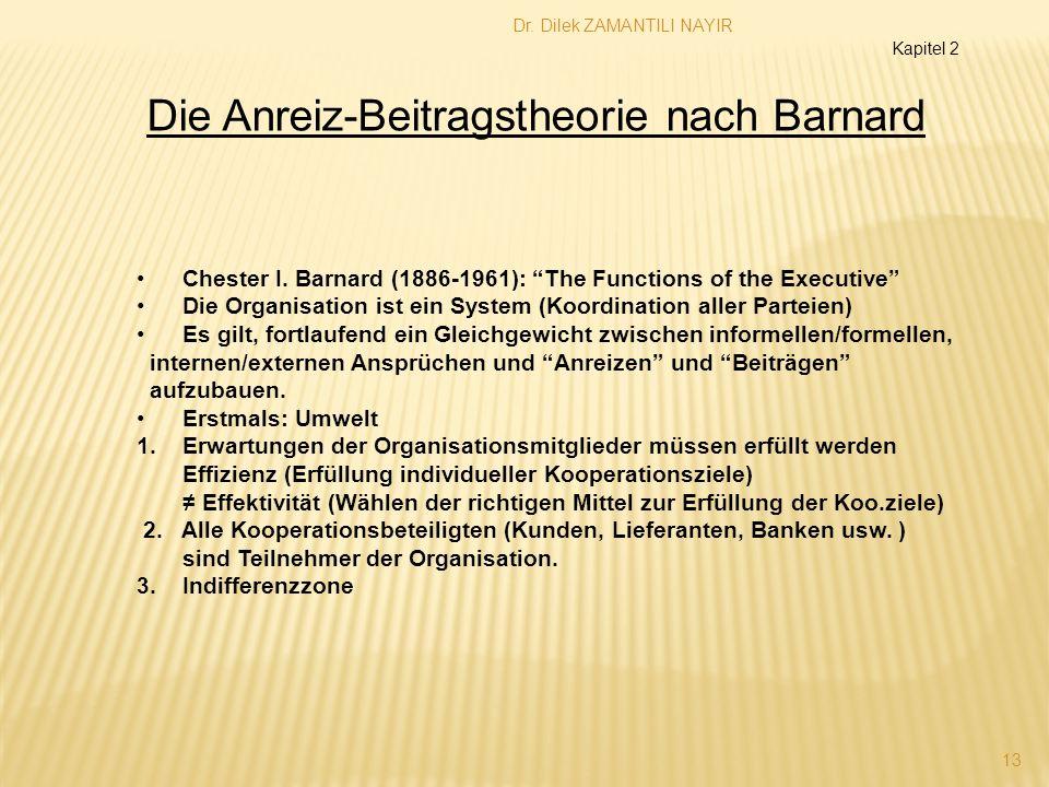 Die Anreiz-Beitragstheorie nach Barnard