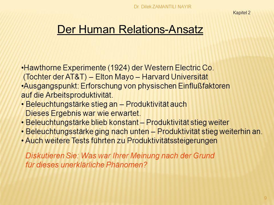 Der Human Relations-Ansatz