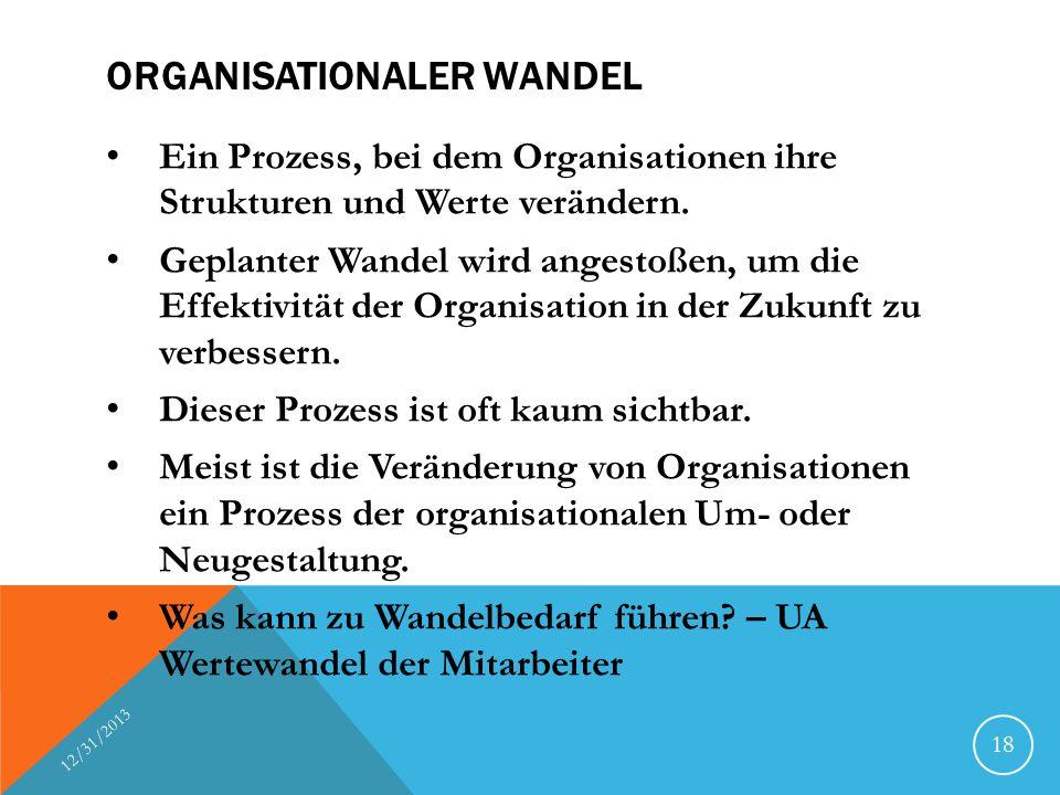 Organisationaler Wandel