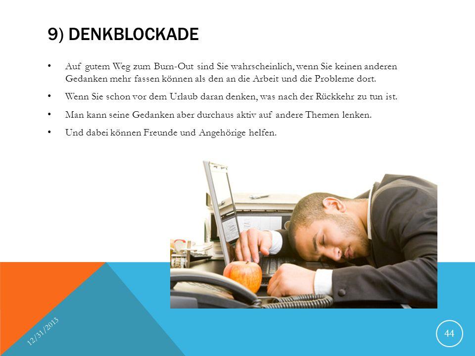 9) Denkblockade