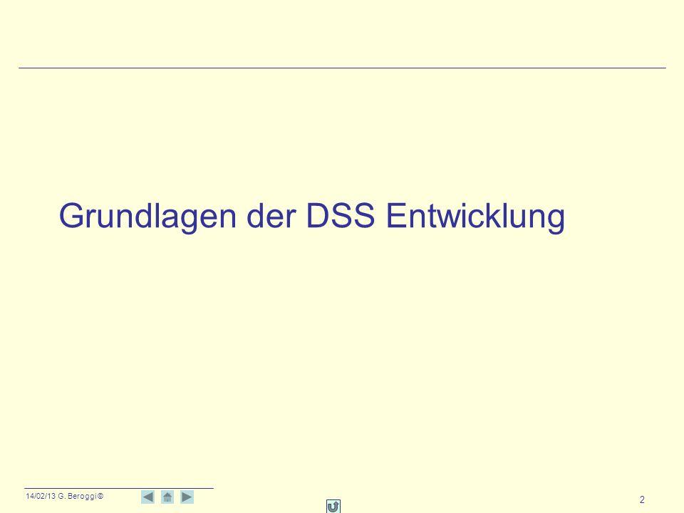 Grundlagen der DSS Entwicklung