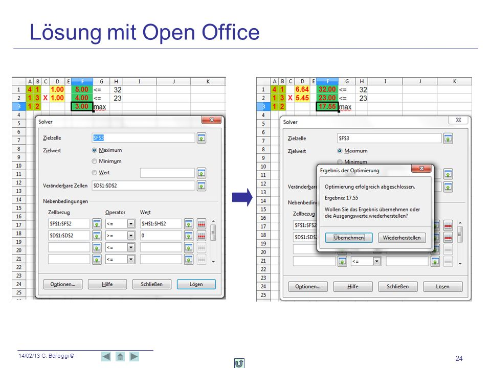 Lösung mit Open Office
