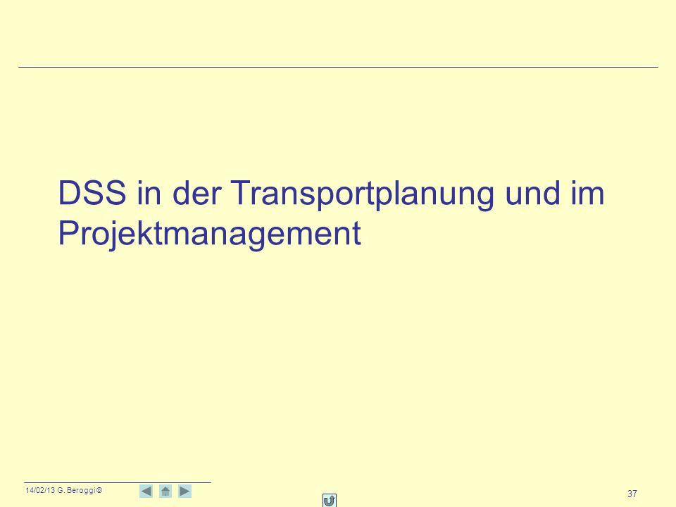 DSS in der Transportplanung und im Projektmanagement