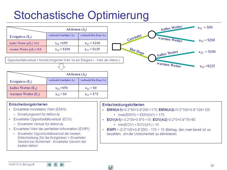 Stochastische Optimierung