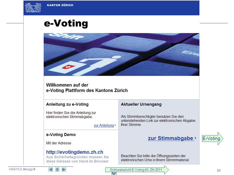 Schlussbericht E-Voting Kt. ZH 2011