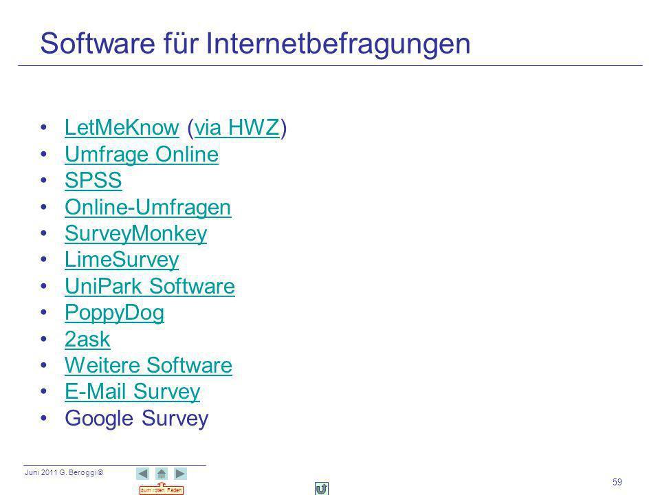 Software für Internetbefragungen
