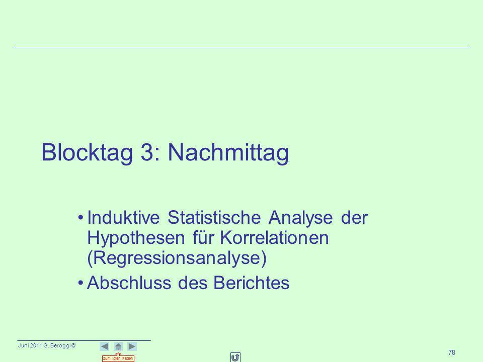 Blocktag 3: Nachmittag Induktive Statistische Analyse der Hypothesen für Korrelationen (Regressionsanalyse)