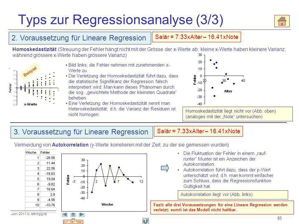 Typs zur Regressionsanalyse (3/3)