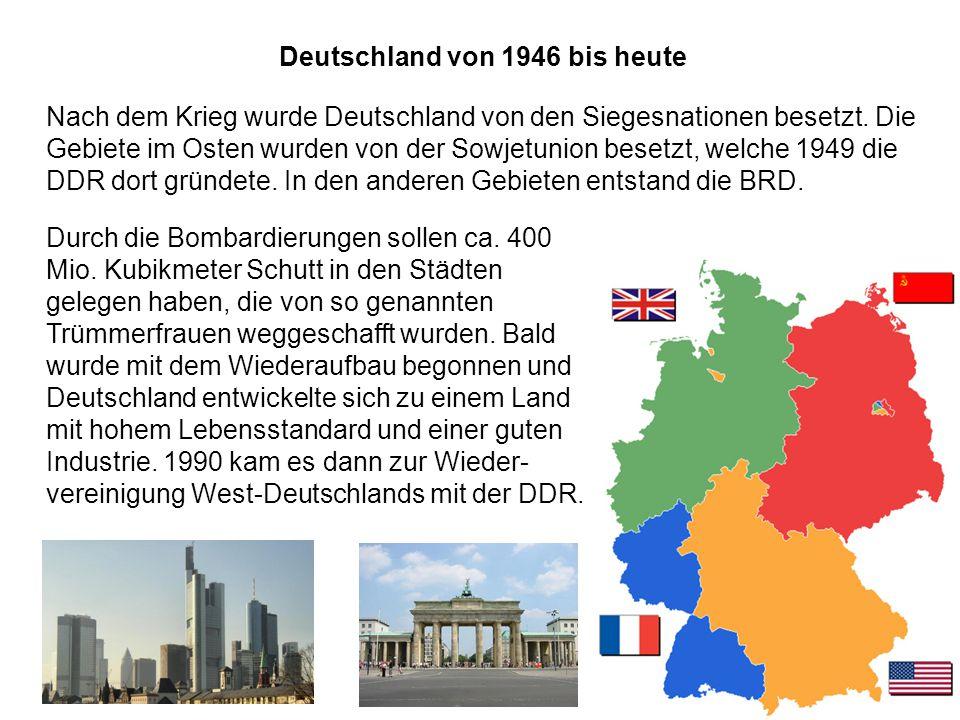 Deutschland von 1946 bis heute